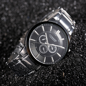 Image 5 - Curren Fashion Big dial Casual quartz watch Mens stainless steel Military Wristwatch waterproof Brand Relogio Masculino Male