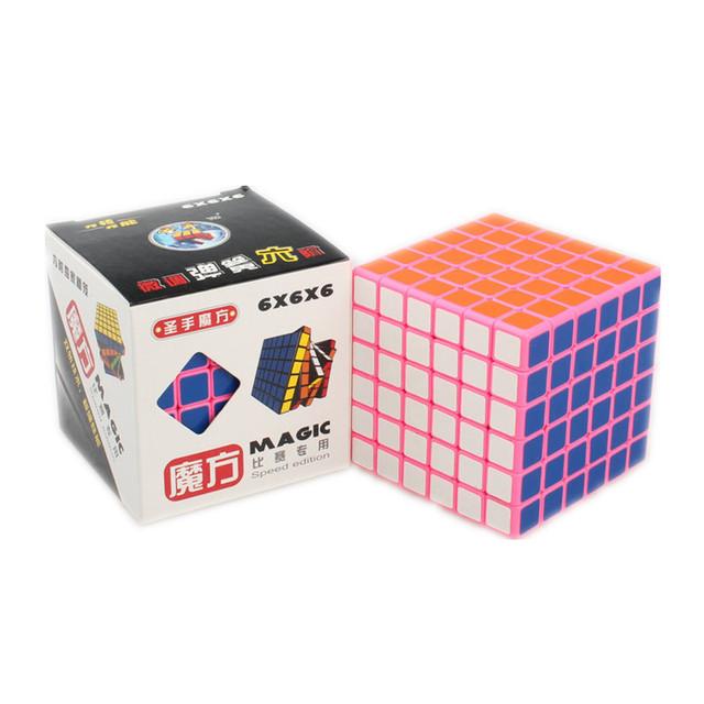 Shengshou 6x6x6 Pink Pop Magia Puzzle Cube Cubo de la Velocidad 6x6 Profesor Juegos olímpicos Cubo Magico Niños Learing y Juguetes Educativos