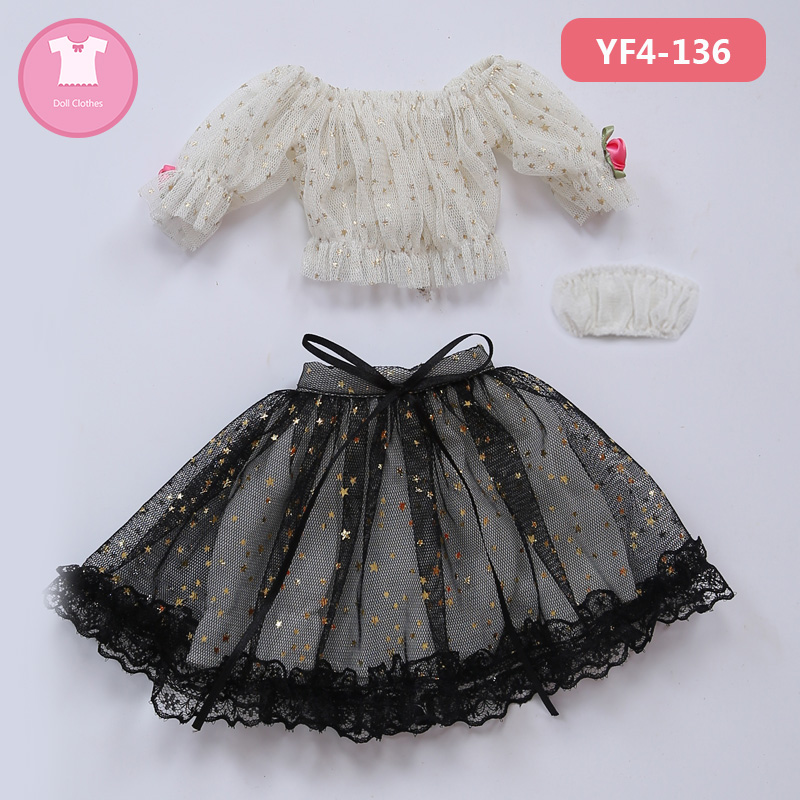 BJD SD Doll Clothes 1/4 or 1/3 Braces Skirt Lace Dress Strapless For Minifee or MSD Body YF4 136 Doll Accessories