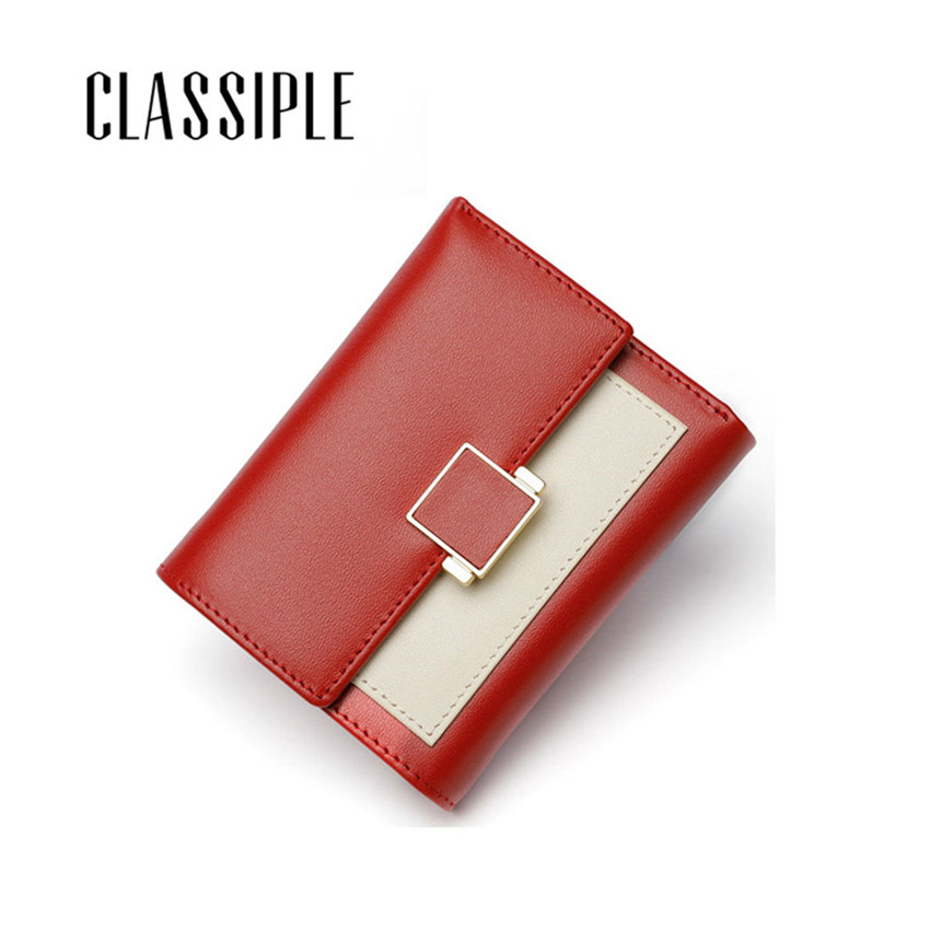 Wallet Women High Quality Genuine Leather Wallet Short Hasp Womens Wallets Small Lady Purses Women Wallets 2018 Luxury Designer