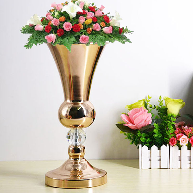 Floor/Tabletop/Flowers Vase Metal Wedding Flower Vase/Stand Table/Wedding Centerpieces Gold Vases For Party/Home Decoration G202Floor/Tabletop/Flowers Vase Metal Wedding Flower Vase/Stand Table/Wedding Centerpieces Gold Vases For Party/Home Decoration G202