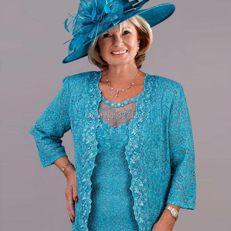 New Design Lace Three Quarter Mother Of The Bride Dresses 2016 Fashionable Sheath vestido de madrinha (3)