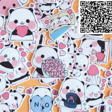 40 pcs Cute little panda cartoon Stickers for  phone Decorative waterproof sticker Scrapbooking For Laptop Children