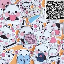 40 قطعة ملصقات لطيفة على شكل حيوان الباندا الصغير لتزيين الهاتف ملصق مضاد للماء للأطفال على الكمبيوتر المحمول