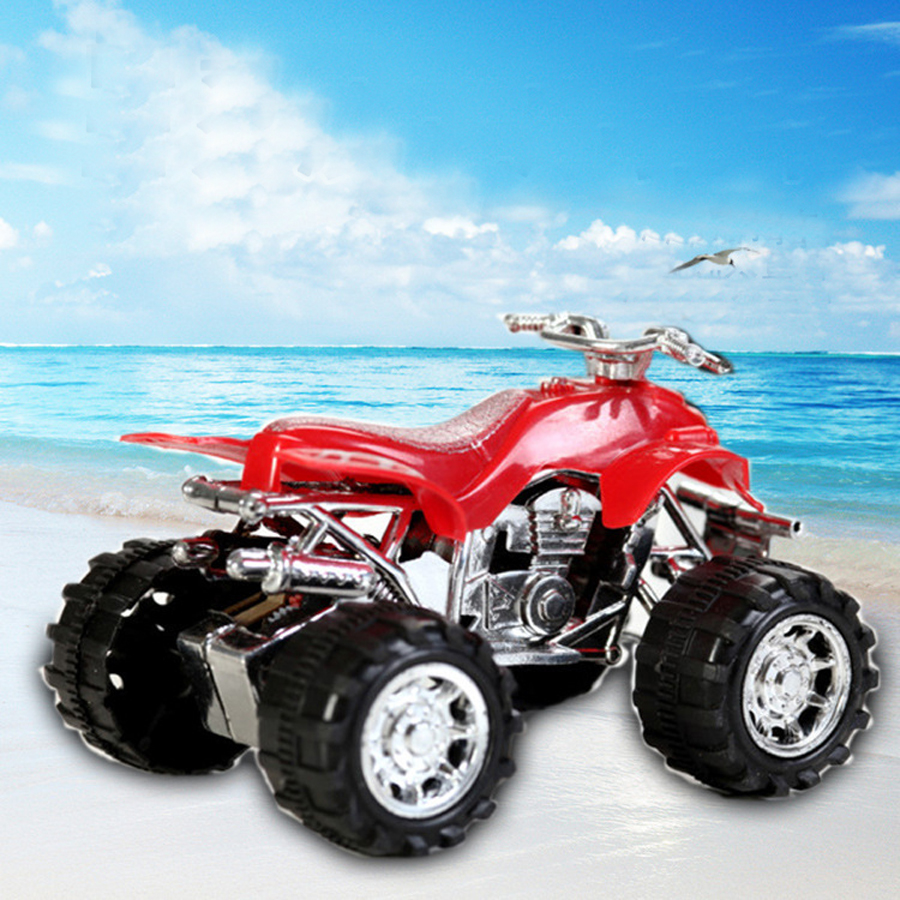 2pcsset pull back mini car toys for children boys four wheeler beach motorcycle