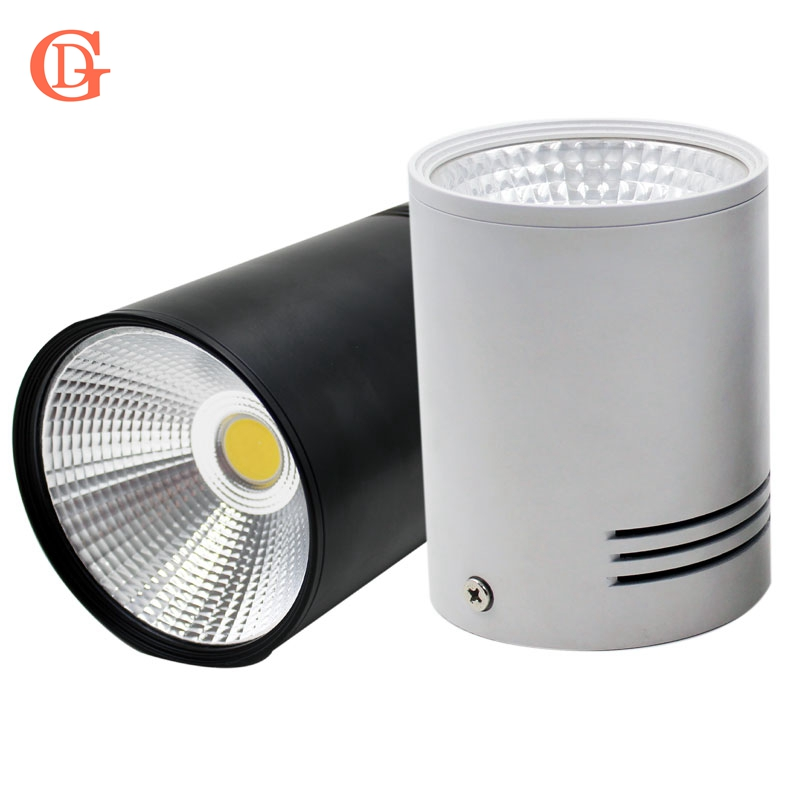 GD 7W 10W 15W 20W COB LED Downlight Dimmable Permukaan Mounted Ceiling Spot Light AC110V-220V Ceiling Lamp Dengan Driver Putih / hitam