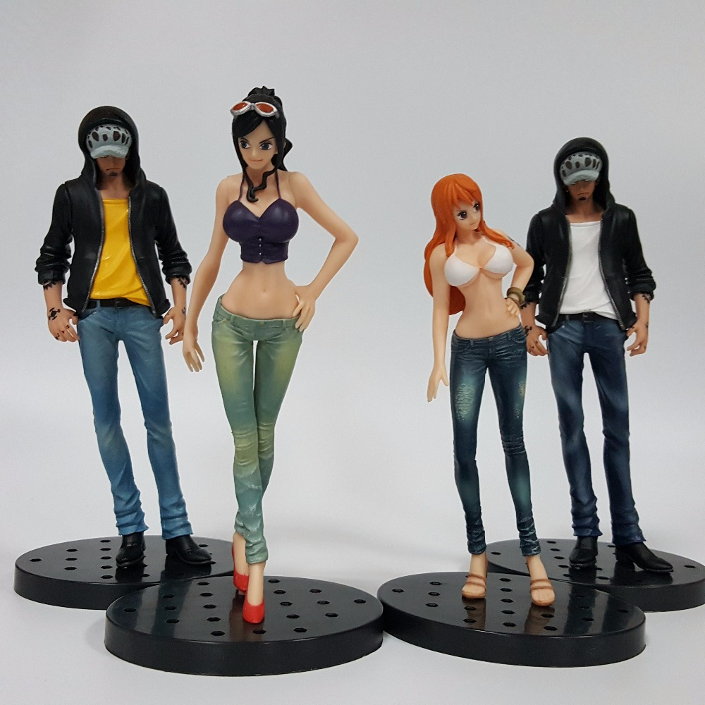 One Piece Action Figures Law Nami Robin Jeans Style Model 170mm PVC Toys One Piece Anime Japanese Anime Figure Toy ...