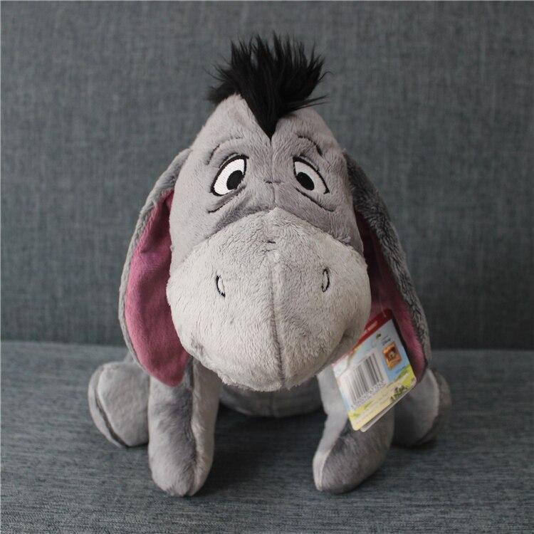 1 pz 35 cm Originale Grigio Eeyore Donkey Roba Animale Morbido Peluche Bambola giocattolo regalo di Compleanno Per Bambini e Gril amico Regali Eeyore ripieni giocattolo
