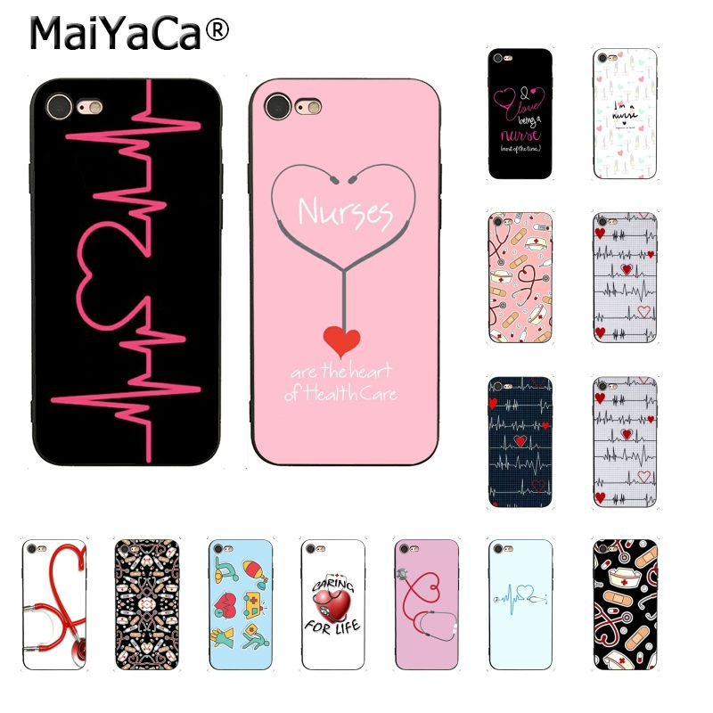 Half-wrapped Case Maiyaca Doctor Nurse Medical Love Pills New Arrival Fashion Phone Case Cover For Iphone 8 7 6 6s Plus X 10 5 5s Se Xr Xs Xs Max Last Style Phone Bags & Cases