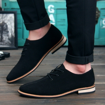 Men Oxford Shoes Nice sping/autumn New Suede Genuine Leather Men Flat Oxford Casual Shoes Men Flats Loafers Zapatos Hombre