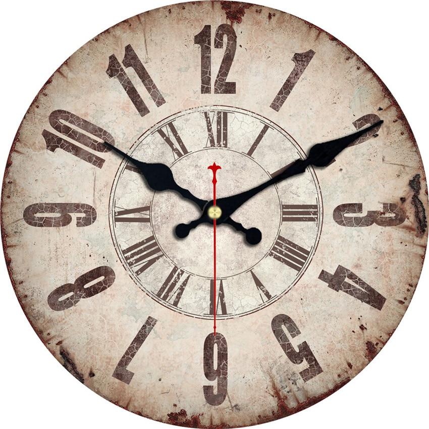 WONZOM Old Time Design Classic Reloj Wall Clock Fashion ...