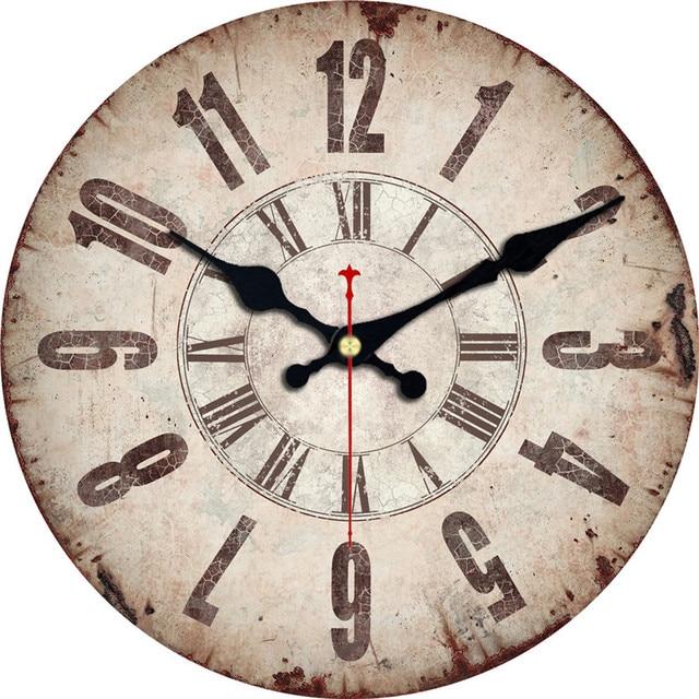 WONZOM Old Time Design Classic Reloj Wall Clock Fashion Silent Living Room  Wall Decor Saat Home