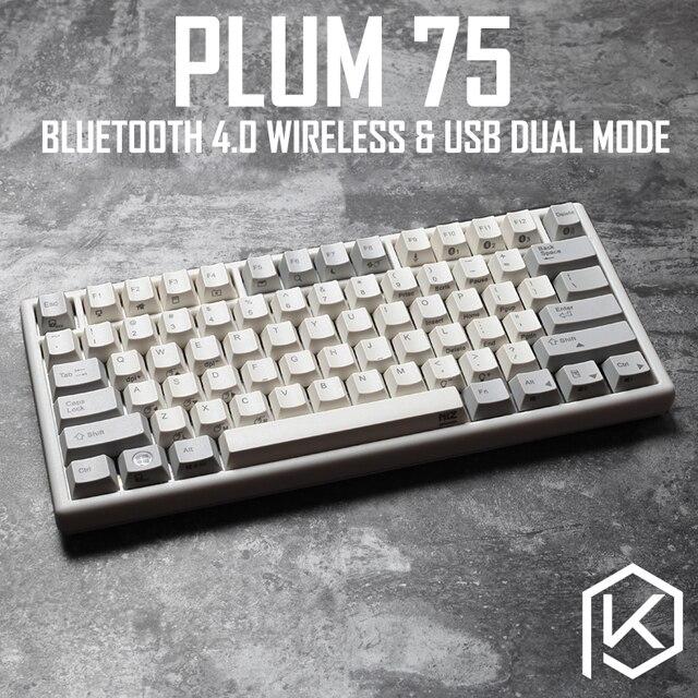 e0814b06c4d Plum 75 NIZ Electro Capacitive Keyboard Bluetooth 4.0 wireless & USB Dual  Mode EC keyboard 84 key programable 35g pbt cherry