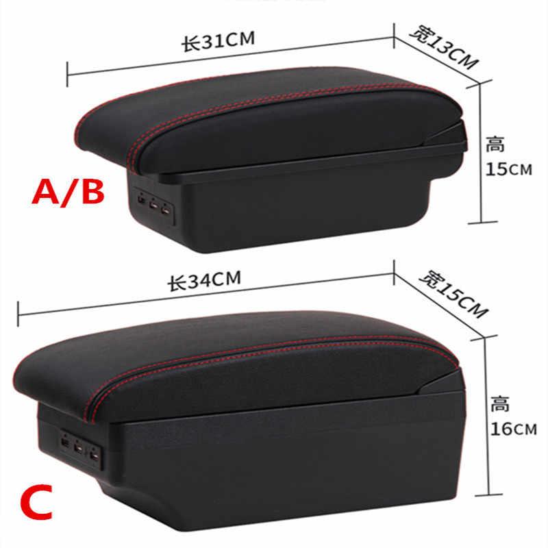 ل Clio 4 مسند الذراع صندوق تخزين مركزي صندوق المحتوى مع واجهة USB