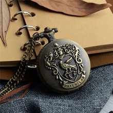 Vintage Gold Colors Pocket Watch  Birds Carved Openable Steampunk Quartz  Men Women Necklace Pendant Clock Gifts