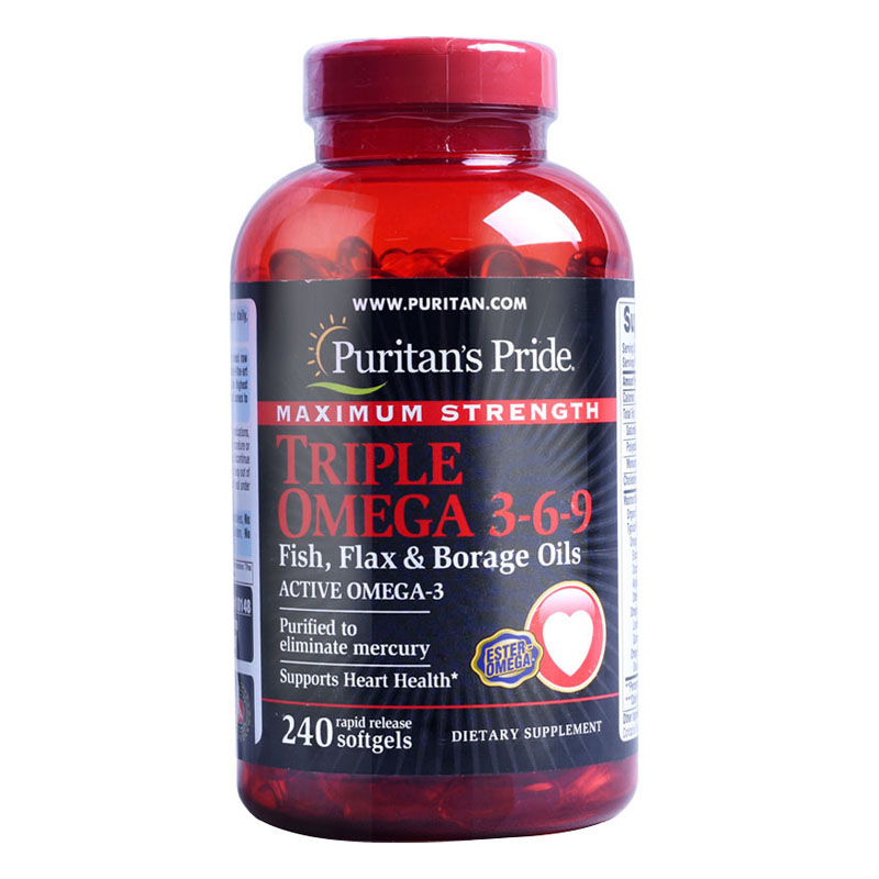цена на American Maximum Strength Triple Omega 3-6-9 Fish, Flax & Borage Oils-240 pcs free shipping