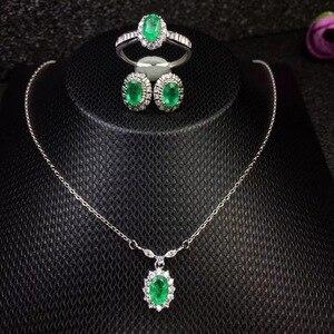 Image 1 - Модное ожерелье из серебра 925 пробы с натуральными бриллиантами