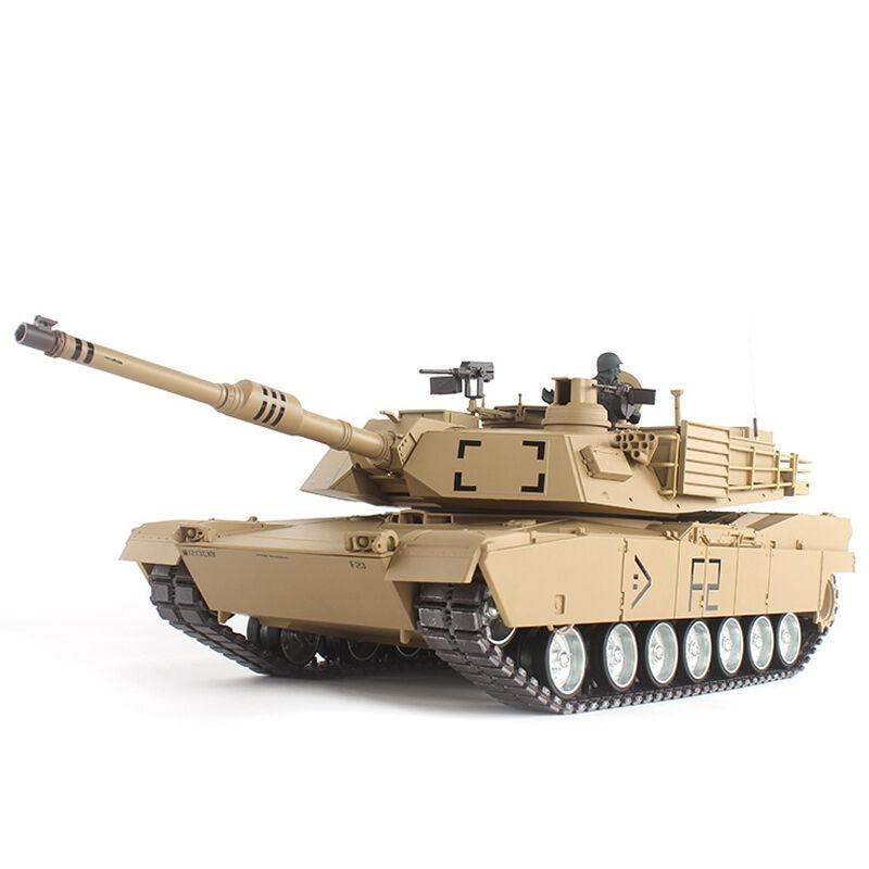 2.4G 1/16 US M1A2 Abrams Radio Remote Control Battle Tank Airsoft BB Gun Smoking Sound Effect Electronic RC Tank Model Toy радиоуправляемый танковый бой huan qi abrams vs abrams масштаб 1 24 27mhz vs 40mhz