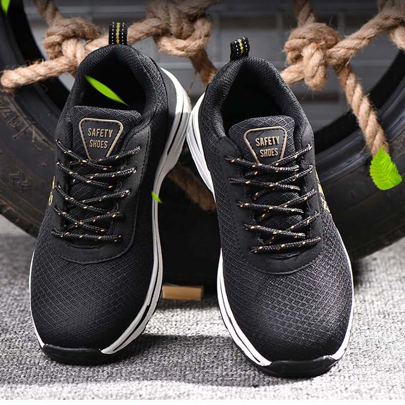 Men 39 s Safety Shoes Outdoor Sports Shoes Safety Soots Breathable Wear Lightweight Breathable Non slip Anti slip Protective Shoes in Work amp Safety Boots from Shoes