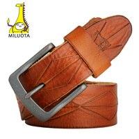 MILUOTA 2016 Designer Belts Men High Quality 100 Genuine Leather Belt Man Vintage Strap Brand