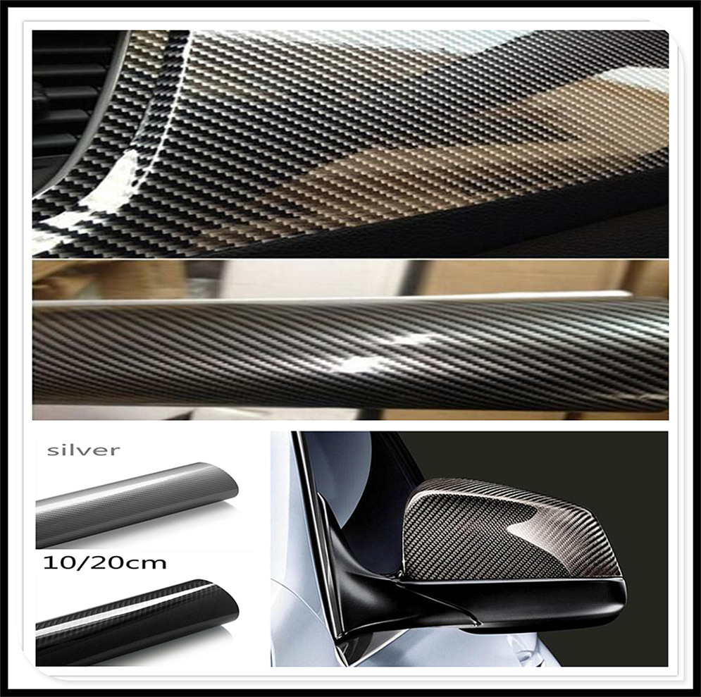5D High Glossy Carbon Fiber Vinyl Film Car Styling Wrap Accessories FOR Kia Forte Ceed Stonic Stinger Rio Picanto Niro