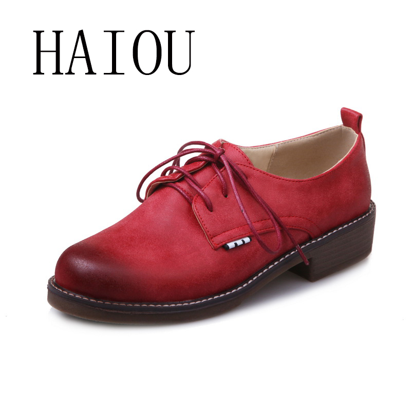 2017 Spring New Women Wings Vintage Red Women Platform Oxfords Brogue Flats Shoes Patent Leather Lace Up Casual Shoes Round Toe qmn women crystal embellished natural suede brogue shoes women square toe platform oxfords shoes woman genuine leather flats