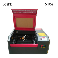 LCSPR laser cutter 4040 50W CO2 laser engraving and cutting machine free shipping to Moscow and Almaty inlcude customs and tax