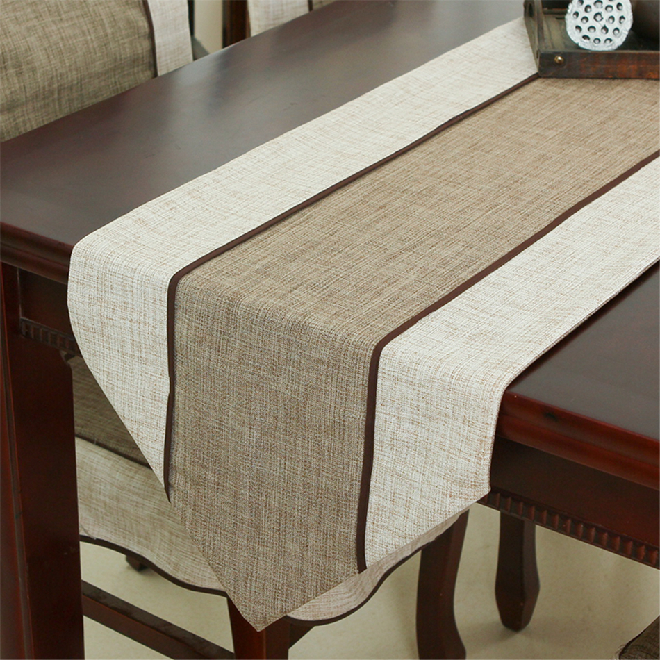 Modern minimalistisk stil Retro Cloth Table Runner Nya kinesiska Classic Coffee Table Flag Solid Table Mat