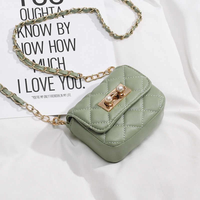 Жемчужный замок мини сумки через плечо для женщин 2019 новые детские сумки через плечо кожаные кошельки и сумки для девочек