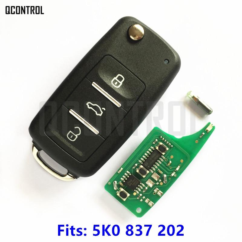 QCONTROL Remote Key for VW/VOLKSWAGEN Beetle/Caddy/Eos/Golf/Jetta/Polo/Scirocco/Tiguan/Touran/UP Car Door Lock 5K0 837 202
