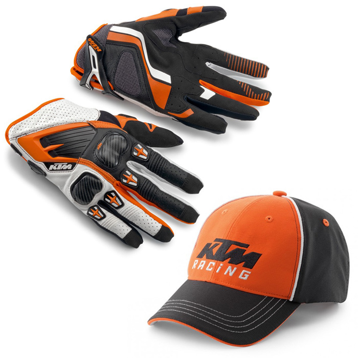 KTM Orange Motocross Gloves BMX ATV MX Off Road Motorcycle Mountain Bike