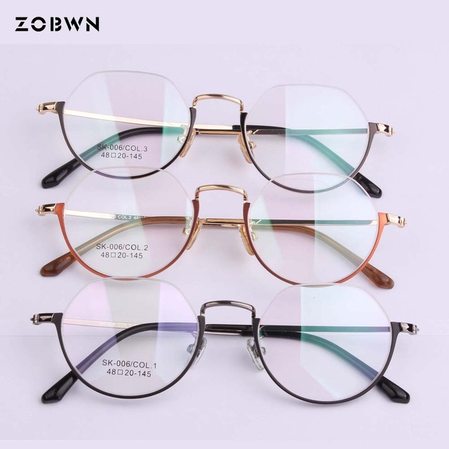 a00e97511c 2018 Fashion Eye Glasses Women Retro Eyeglasses Frame Brand Metal Vintage  Female Optical Clear Myopia Eyewear Oculos half frame