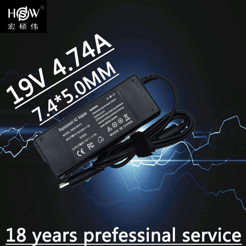 A HSW 19V 4.74A Laptop Ac Carregador Adaptador de Alimentação Para Hp Nc6220 Nc6230 Nc6320 Nc6400 Nx6115 Nx6120 Nx6125 Pavilion Dv3 Dv4 Dv5 Dv6