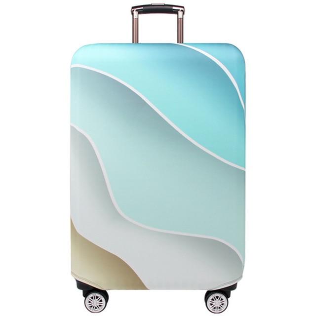 HMUNII карта мира, дизайнерский защитный чехол для багажа, Дорожный Чехол для чемодана, эластичные пылезащитные Чехлы для 18-32 дюймов, аксессуары для путешествий - Цвет: C-Luggage cover