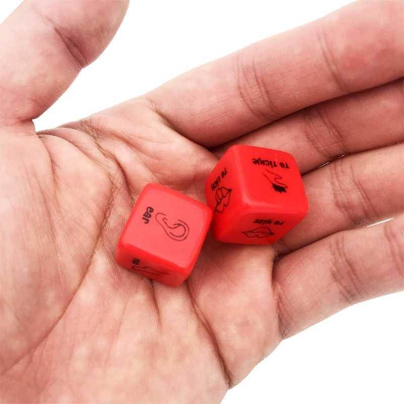 2 قطعة/زوج 18 مللي متر مجموعة نرد الأحمر الاكريليك نادي ألعاب الجنس القمار المثيرة النرد لعبة زوجين الجدة الحب مضحك العقاب هدية مجلس Ga
