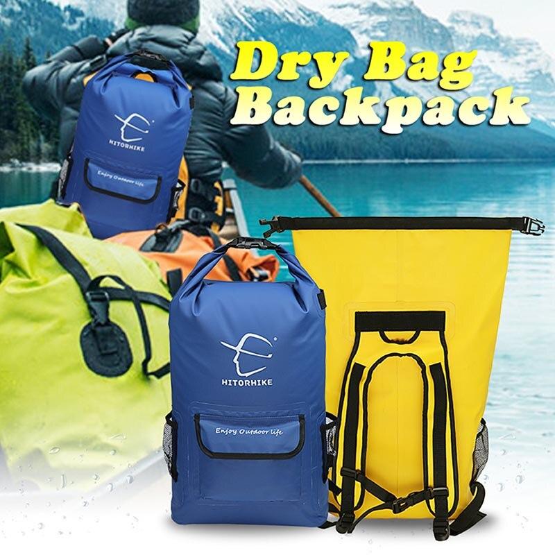 ff1beb1b2ea 25L Outdoor Waterproof Swimming Bag Backpack Bucket Dry Sack Storage ...