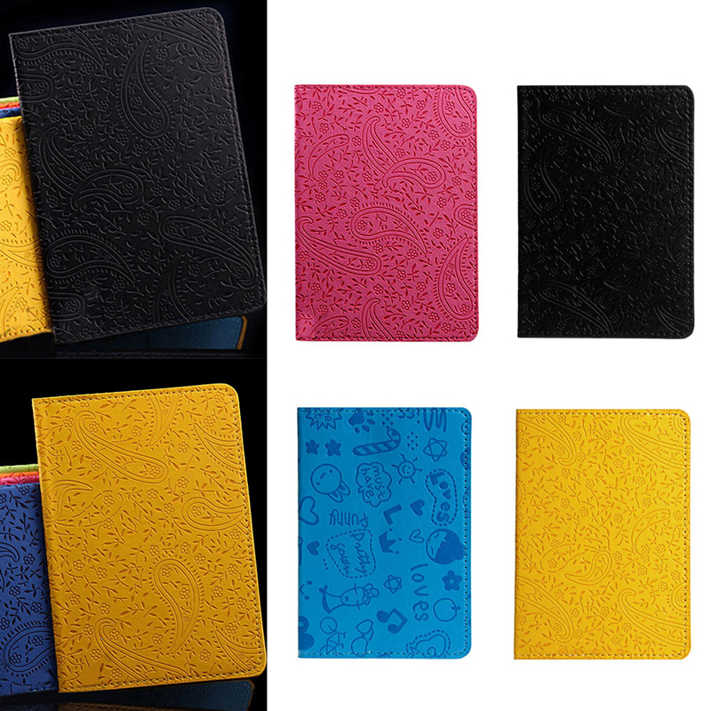 Card Holder & Note Holder Peerless Pu Leather Lavender Passport Holder Cover Id Card Travel Ticket Pouch Packages Passport Covers Card Holder