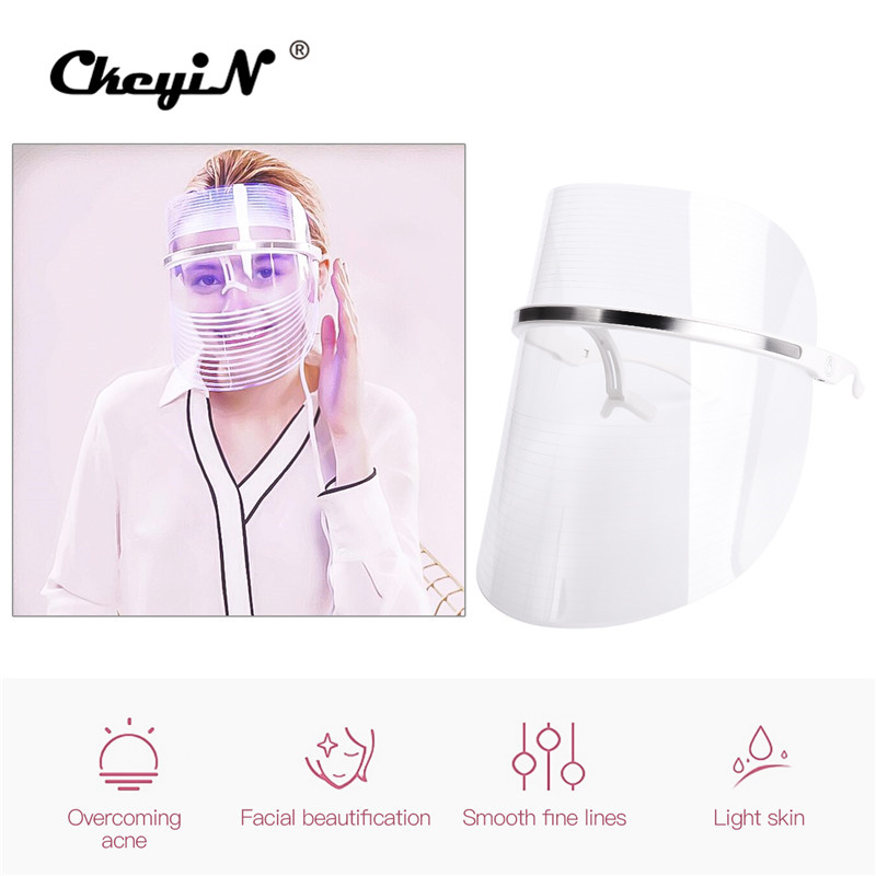 LED Light Therapy Facial Mask Therapy Facial Mask 3 Color Photon Anti-aging Rejuvenation Skin Facial Spa Machine Beauty Device47LED Light Therapy Facial Mask Therapy Facial Mask 3 Color Photon Anti-aging Rejuvenation Skin Facial Spa Machine Beauty Device47