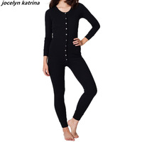 Jocelyn Katrina Brand Women S Spring New Jumpsuits Fashion Elegant Temperament Solid Long Sleeved Jumpsuits Rompers