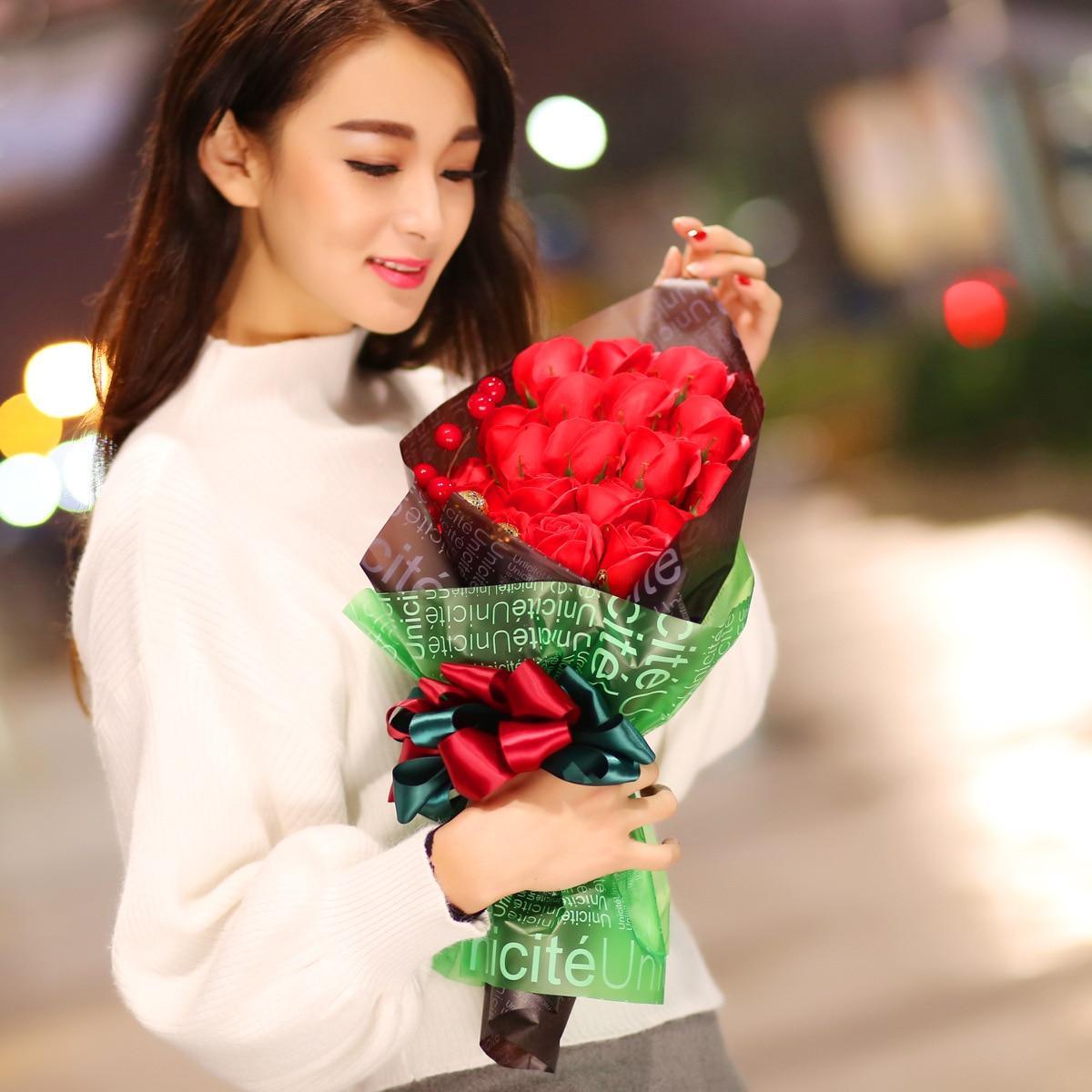 Soap Flower Teacher's Day Gift Teacher Romantic Girlfriend