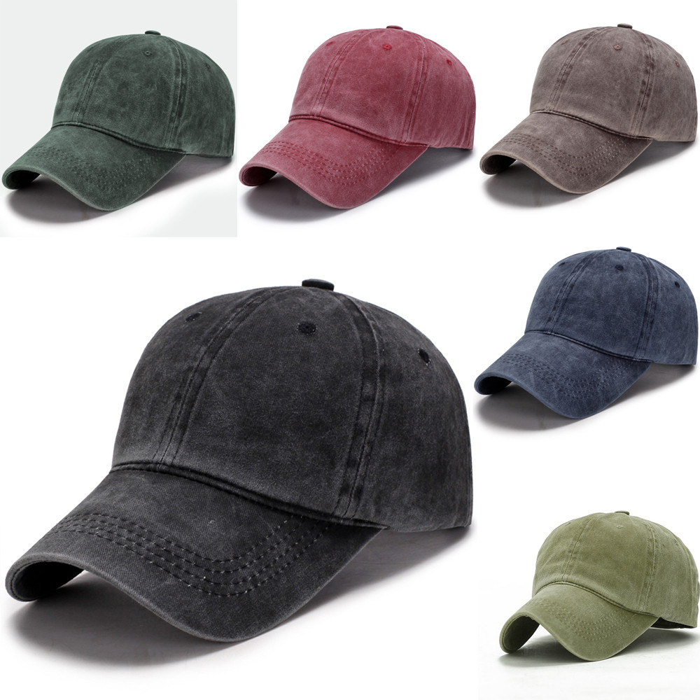 Hot Sale Washed Casquette   Baseball     Caps   Men hats Solid Colors 5 Hat for Women Casual Adjustable   Caps   gorras planas @30