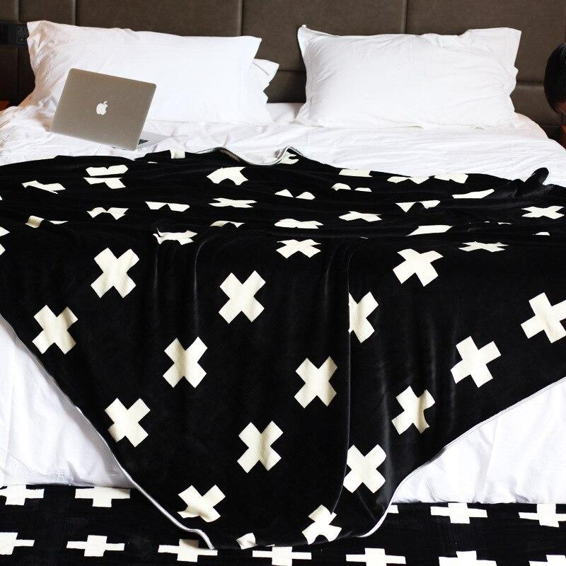 ФОТО Multi Fuctional Blankets High Quality Coral Fleece Blanket Soft Portable Two Layers Cross/Diamond/Cherry 150cmx200cm 200cmx230cm