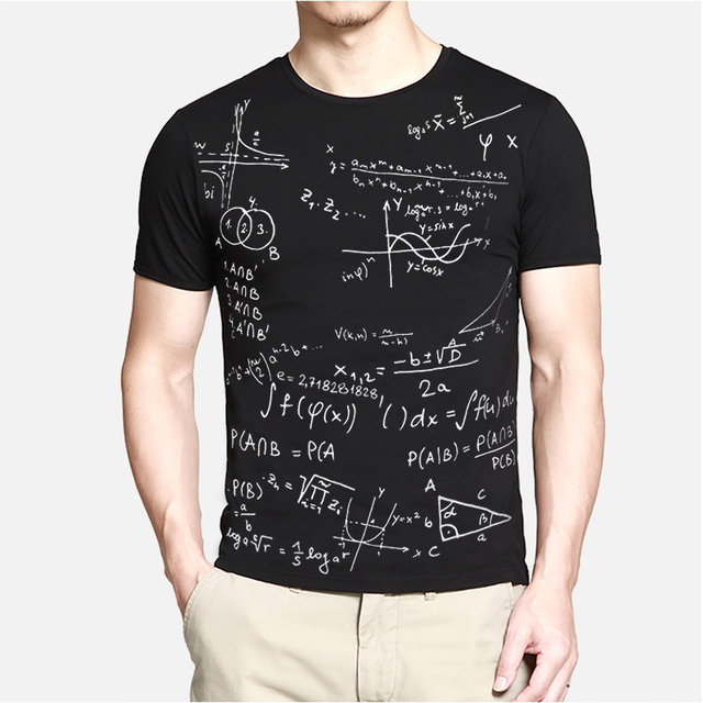 2017 homens Marca de Moda Nova Fórmula da Escola T-Shirt T Shirt Roupas Abstrato de Manga Curta O pescoço Tops Tees TX87 C