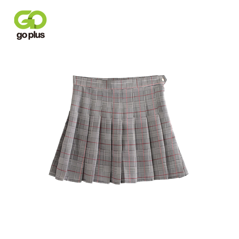 Women's Clothing 2019 New Style Goplus Sweet Style Harajuku Red Black Plaid Skirt 2018 Autumn Winter High Waist Pleated A-line Mini Skirt Women Streetwear C6536 Factories And Mines