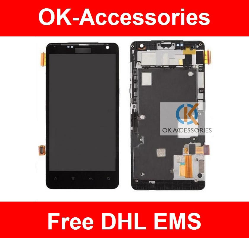 ФОТО Black Color Touch Screen Digitizer+LCD +Frame For HTC G19 Raider 4G 10PCS /Lot Free DHL EMS