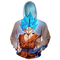 Anime Dragon Ball Super Saiyan Goku 3D Zip-Up Hoodies Men Fashion Clothing Outfits Zipper Galaxy Hooded Sweatshirt Sweats