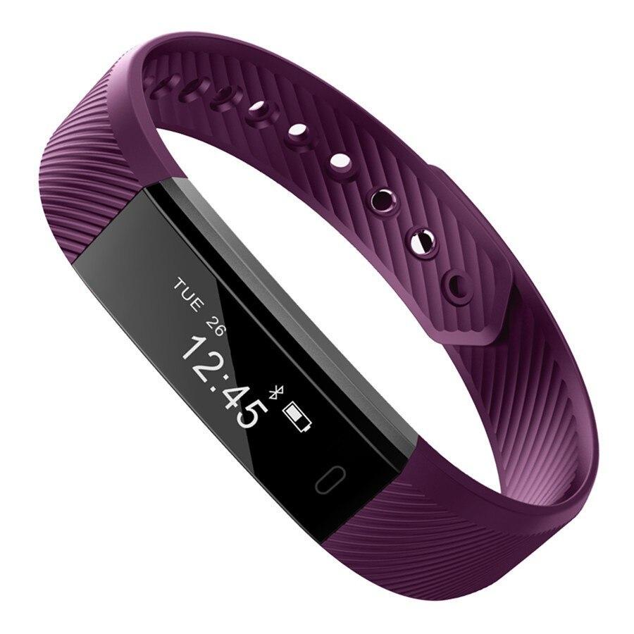 imágenes para Smartch ID115 Banda Inteligente Pulsera Bluetooth Podómetro Rastreador De Fitness Reloj de Pulsera Cámara Remoto Para Android iOS