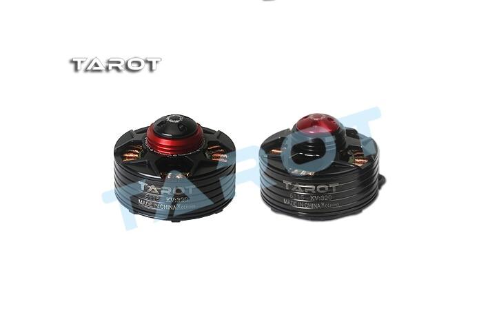 F14619/F14620 TAROT 6115 320KV Self-locking CW CCW thread Brushless Motor BLACK Red cover TL4X003 TL4X005 FS