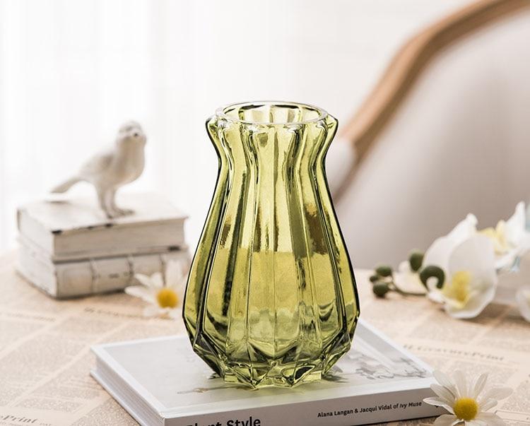 Transparent Colorful Flower Vase