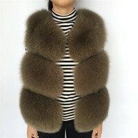 Real Fox Fur Vest Women Spring Female Natural Fox Fur Gilet Ladies Sleeveless Waistcoat Warm Genuine Real Fur Vest for Women